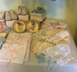 baby clothing and accessories from the 40s