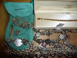 TIFFANY & CO NECKLACE, BRACELETS, EARRINGS, CHARM