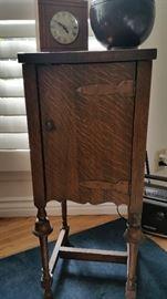Antique smoking humidor stand.