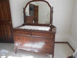 Antique Essey Dresser with Mirror