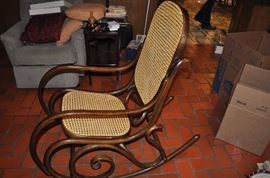 Thonet style rocker... probably by Bentwood. Very nice, excellent condition. Vintage