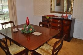 Genuine Drexel. Genuine Mahogany Formal Dining. Excellent condition!