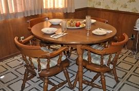 I would place this set anywhere! Conant Style, heavy chairs in excellent condition! Perfect for breakfast room. Small cabin must have!