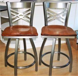 Iron & Wood Bar Stools