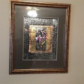 framed metal art
