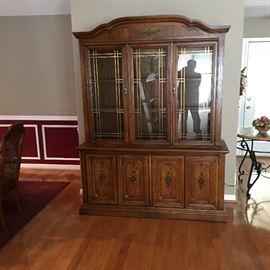 vintage lighted china cabinet.  $500 TODAY!!!!