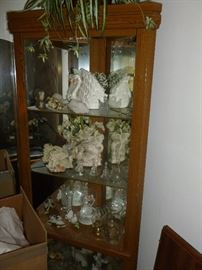 Corner Cabinet with Knick Knacks