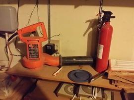 blower, fire extinguisher