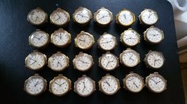 told you we had 27 chronometers!!   8 are working, 9 'want to run', 10 are not talkin' to me.  they will be priced accordingly.