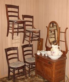 Antique Washstand - SOLD & Chairs