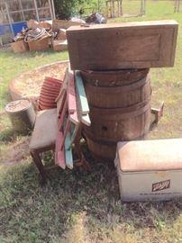 Wine Barrel & Vintage Schlitz Cooler - SOLD