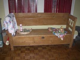 Antique English Pine Bench