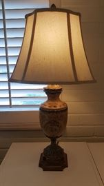 Pair of Matching Lamps,  with Acorn Finials.
