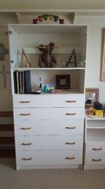 Chest of Drawers, with open shelf, and double glass door
