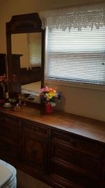 Low dresser with mirror - $75