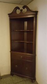 Corner display cabinet - $50