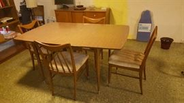 Dinette set with four chairs - $75
