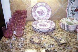 Turkey transferware plates - set of 6