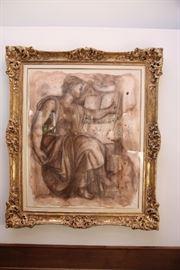 Ornate Large Framed art