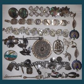 Lots of Sterling Silver, Mexican Taxco Sterling, Weiss, Niels Erik From Denmark Brooch and more