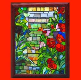 Very Nice Fairly Large Stained Glass