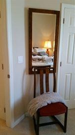 Mirror & bedroom chair