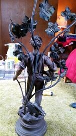 """Statue of """"Le Laboureur"""" by French Artist Robert Pfeffer"""