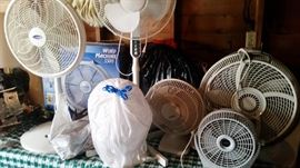 Need a Fan to keep you cool or move that warm air around inside your house this winter, we have all sizes.
