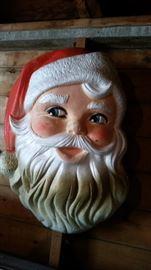 Vintage Santa Claus face - large