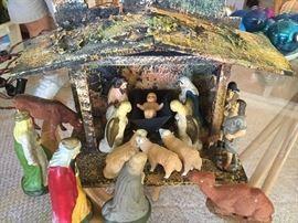 1950 nativity, creche