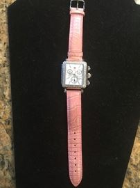 Designer Michelle Diamond Bezzled Ladies Watch, never worn. Retails for over $800