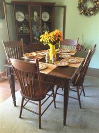 Vintage Drop Leaf Table & Chair Set