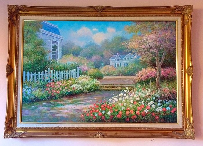 Beautiful Landscape Painting with Antique Frame