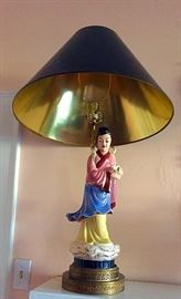 Large Oriental Figural Lamp, Female