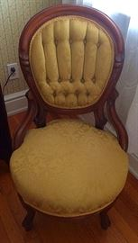 Antique Victorian Walnut Balloon Back Chair