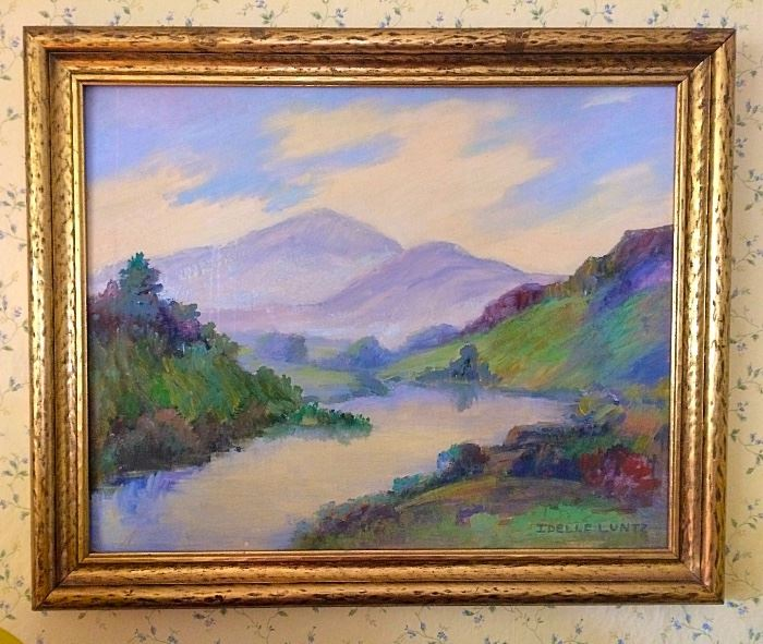 Lovely Landscape Painting by Local Artist Idelle Luntz