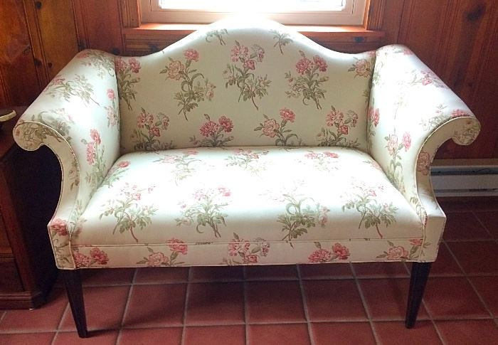 Gorgeous Semi-Antique Settee (Vintage Upholstery)