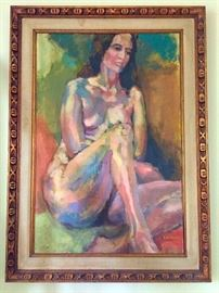 Painting by E. N. Murphy, Antique Frame
