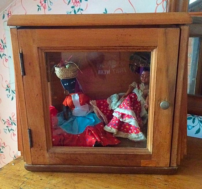 Antique Small Display Cabinet, Dolls