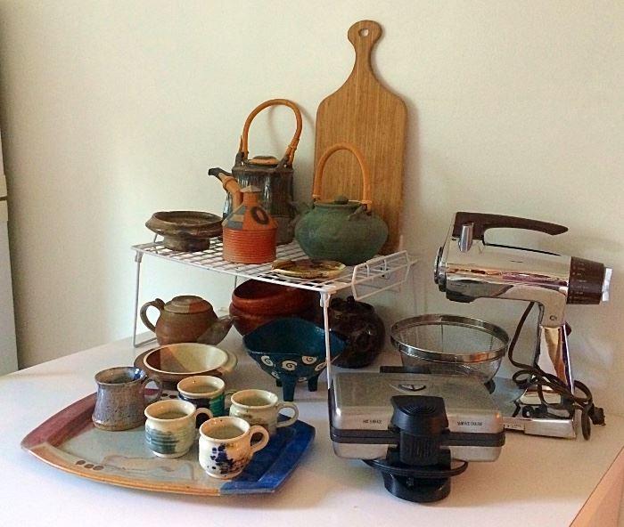 Pottery, Vintage Mixer & More