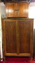 Large Semi-Antique Wardrobe, Primitive Cabinet