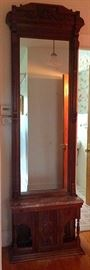 Antique Victorian Foyer / Pier / Hall Mirror