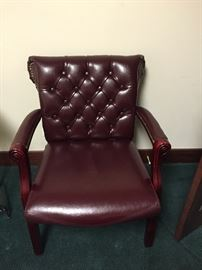 Office desk side chair tufted $35.00 ea.  **BUY IT NOW PAYPAL**.    LOT#801