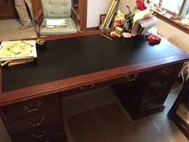 Cherry wood desk -Same as previous picture LOT#815
