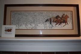 """Signed Numbered print; Artist Bev Doolittle, """"Sacred Ground"""""""