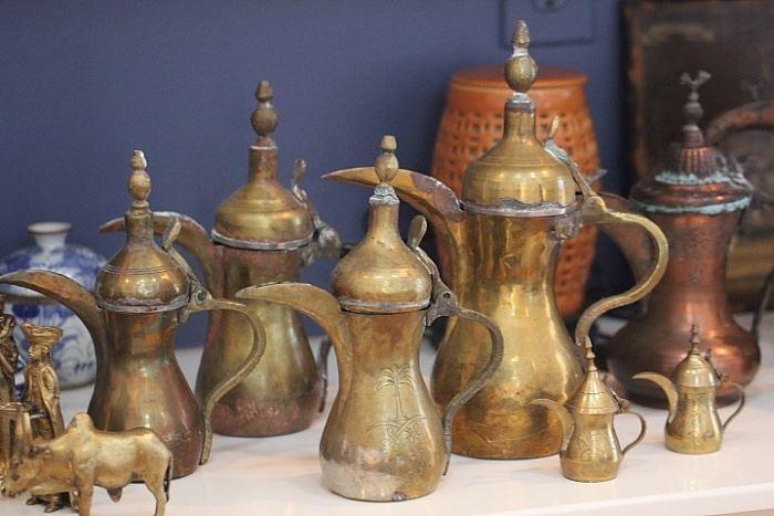 coffee pots from Saudi Arabia and Turkey