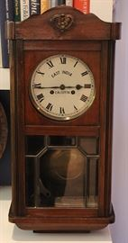 an early 20th Century wall clock - East India, Calcutta