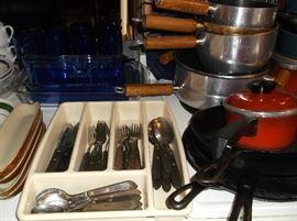 Wooden handle flatware