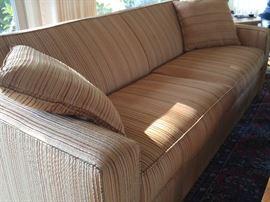 Contemporary pin-striped sofa