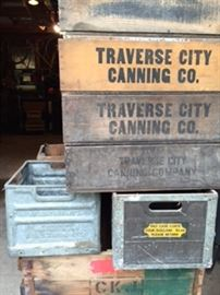 So many vintage and antique crates and boxes